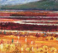 "Michael Matthews ""Back Streams"" acrylic on canvas 46 x 48"""