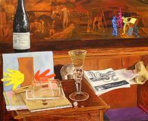 """Jesse Thomas, Nightmare, 2012-2014, oil on canvas, 20 x 22"""""""