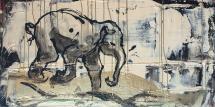 "Untitled no 115, acrylic on canvas, 20 x 40"""