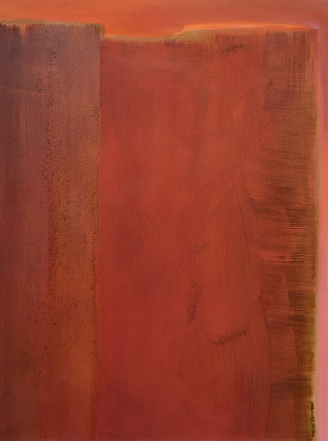 """Hilary Prince """"Sangria"""" 2018 oil on paper 27.875 x 20.25"""" *SOLD*"""