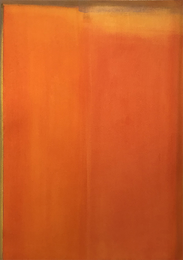 """Hilary Prince """"Tuscan Sun"""" 2018 oil on paper 27.25 x 19.25"""" *SOLD*"""