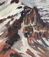 "Arlene Waslynchuk ""Glacial Journey V"", 1997, oil on panel, 11 x 9.5"""