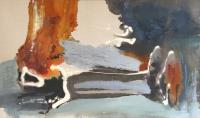 Kelly Krueger, Ashes, 2007, acrylic on linen, 42 x 70 inches