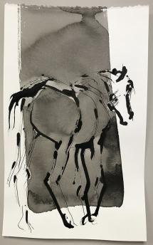 "Richard Tosczak ""Ossenzijl mar 18 #8"" 2016 ink on paper 10 x 6 inches *NEW*"