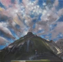 "Jim Davies ""2 Eternities"" 2019 oil on canvas 14 x 14"" *NEW*"