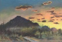 "Jim Davies ""Rundle Sundown 2"" 2020 oil on canvas 24 x 36"" *NEW*"