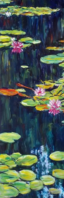 """Patty Ampleford """"Oh it's such a perfect day"""" 2019 oil on canvas 72 x 24"""""""