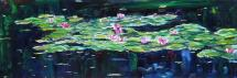 """Patty Ampleford """"Just what you saw"""" 2019 oil on canvas 24 x 72"""""""