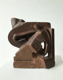 "Peter Hide ""Aztec"" 2019 mild steel, welded and rusted 9.75 x 8 x 4.5"""