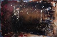 "Marianne Watchel ""Hangman's Reel"" 2018 acrylic on canvas 24 x 36 inches"