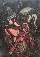 "Aboud Salman ""My Father"" 2018 acrylic on canvas 63 x 45"" sold"