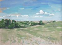 """Ken Christopher, Spring Hills Heart - Near Trochu, 1982, oil on canvas, 24 x 34"""""""