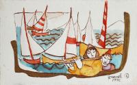 Francine Gravel, Study For Sea Chanty, 1992, watercolour, 25 x 4""
