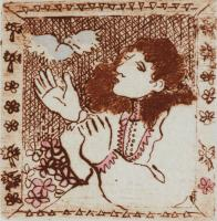 "Francine Gravel, Envol, etching, 1.875 x 1.875"""