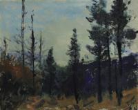 """Gerald Faulder """"Untitled Landscape (Monotype)"""""""
