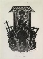 "Henry George Glyde (1906 - 1998), Christmas Print 1944, Woodblock on Paper, 7 x 5"" (visible)"