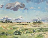 """Ken Christopher, Near Saskatoon, oil on canvas, 11 x 14"""""""
