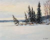 "Michael Miller ""Winter Solace"" 2020 acrylic on linen 8 x 12"" *SOLD*"