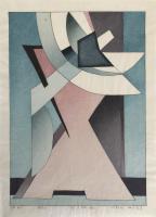 """Mitsumasa Nonaka (b. 1949) """"OP-41"""" 1978 woodblock print edition 2 of 50 17 x 12 inches (full sheet) *NEW*"""
