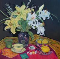 "Linda O'Neill ""Lilies White & Yellow"""