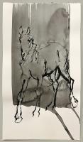 "Richard Tosczak ""Ossenzijl mar 30 #14"" 2016 ink on paper 16 x 9 inches *NEW*"