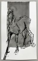 "Richard Tosczak ""Ossenzijl mar 30 #15"" 2016 ink on paper 10 x 6 inches *NEW*"