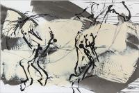 "Richard Tosczak ""untitled no.105, 2015-2016"" ink and acrylic on canvas 48 x 72"""