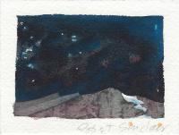 Robert Sinclair, Night Top, watercolour, 2.75 x 3.75""