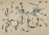"Tim Rechner ""Broken helicopter"" oil pastel and graphite on paper 43 x 58"""