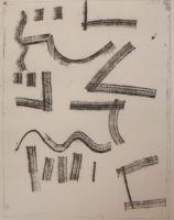 "Douglas Haynes, XWP1985-13, monoprint, 15.5 x 12"""
