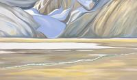 "Wendy Wacko ""Kiwa Glacier - Afternoon Storm"" oil on canvas, 36 x 60"""