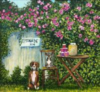 """Shirley Emeny, Lemonade, acrylic on panel, 10 x 12"""""""
