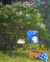 """Shirley Emeny, Callisto, acrylic on panel, 36 x 28.5"""""""