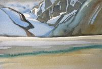 "Wendy Wacko ""Kiwa Glacier Study"" watercolour on paper, 13 x 8.75"""
