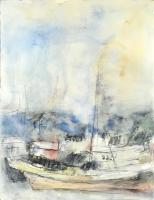 Edward Epp, Ocean Crystal, 07-05-03. watercolour and graphite on paper, 25.75 x 19.75""