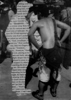 """Shane Golby, Word on the Street, photomontage on paper, 13 x 10.5"""""""
