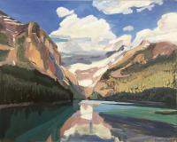"James MacDonald ""Lake Louise"" 2019 acrylic on canvas 48 x 60"""