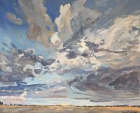 "James MacDonald ""Parkland Sky"" 2021 acrylic on canvas 48 x 60"" | $ 3,600.00 *NEW*"
