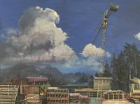 "Jim Davies ""Alpine Industrial"" 2020 oil on canvas 36 x 48"" *NEW*"