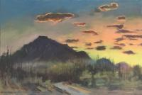 "Jim Davies ""Rundle Sundown 2"" 2020 oil on canvas 24 x 36"" *NEW*"
