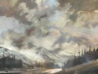 "Jim Davies ""September Squall"" 2020 oil on canvas 30 x 40"" *NEW*"