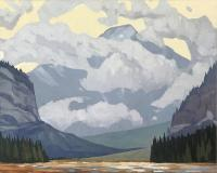 "Mitchell Fenton ""Kicking Horse Pass"" 2014 oil on canvas 40 x 50"""