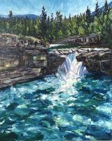 "Patty Ampleford ""That's the way the water flows"" 2019 oil on canvas 60 x 48"" *SOLD*"