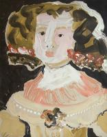 "Leslie Poole, ""Infantin M.T."" 2006, acrylic on canvas, 30.75 x 24.75"""