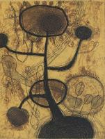 "Akiko Taniguchi ""Sun Flower 18/30, 1998"" etching, collography 7 7/8 x 5 7/8"" *SOLD*"