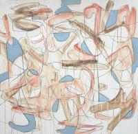 """Tim Rechner """"time travel"""" 2020 acrylic and graphite on canvas 36 x 36 inches *NEW*"""