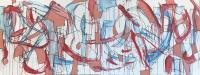 "Tim Rechner ""clones of us will live our lives"" 2020 oil and graphite on canvas 30 x 80 inches *NEW*"