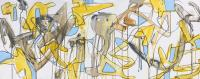 "Tim Rechner ""drift off to sleep"" 2020 acrylic and graphite on canvas 16 x 40 inches *NEW*"
