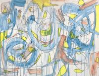 """Tim Rechner """"move on with your life"""" 2020 acrylic and graphite on canvas 30 x 40 inches *NEW*"""