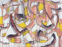 """Tim Rechner """"the longest day of my life"""" 2020 oil and graphite on canvas 30 x 40 inches *NEW*"""